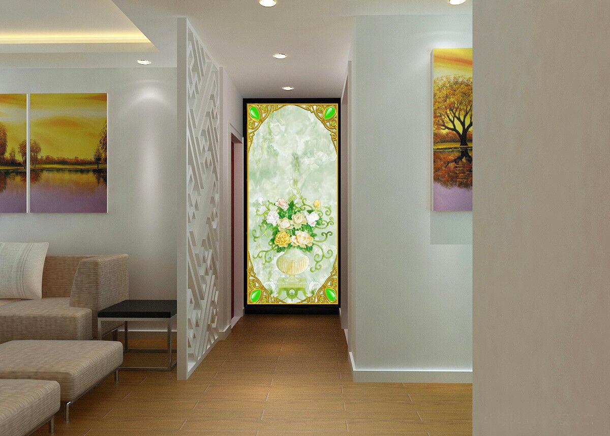 3D Vase Flower 742 Wallpaper Mural Wall Print Wall Wallpaper Murals US Sunmmer