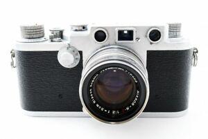 Nicca-3F-3-F-Leica-L39-Rangefinder-w-Nikkor-H-C-5cm-50mm-f-2-Japan-Exc