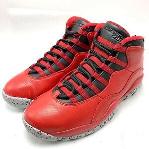 on sale ce2d2 54221 Details about Nike Air Jordan 10 Retro 30TH Men's Shoes Gym Red/Black-Wolf  Grey 705178-601