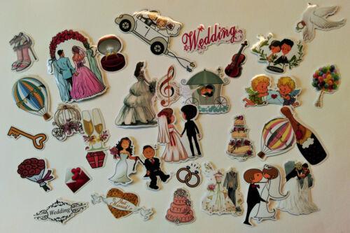 Hochzeit Set 65 Teile Liebe Sticker Aufkleber Verlobung Valentin Herzen braut