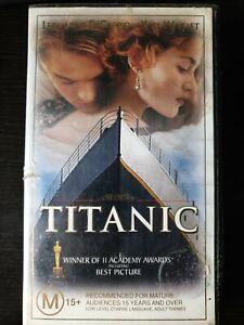 PAL-VHS-VIDEO-TAPE-TITANIC-Leonardo-Di-Caprio-Kate-Winslet-Collector-039-s
