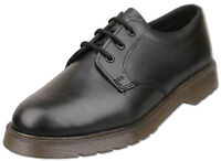 Mens New Black Leather Lace Up Shoes Air Cushioned Soles Size 6 7 8 9 10 11 12