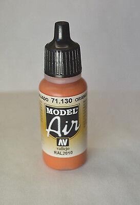 Vallejo Model AIR - ORANGE RUST 71.130 Acrylic Hobby Paint 17ml Airbrush Ready