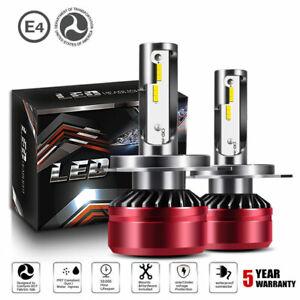 H4-LED-Headlight-Kit-DOT-Bulb-6000K-HID-White-Light-Headlamps-Conversion-Kit