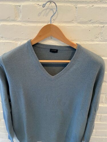 J.Crew men's cotton cashemere v-neck sweater - med