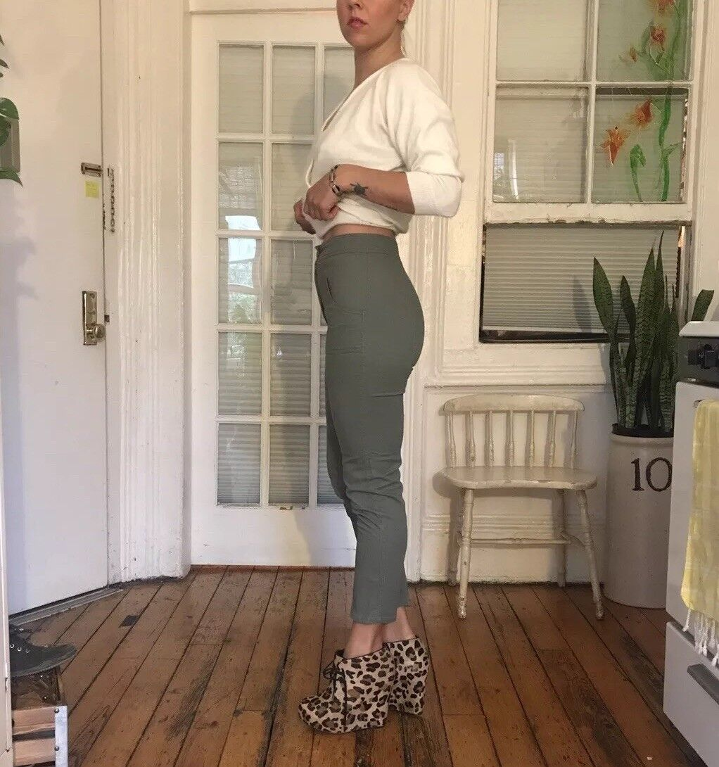 Judi pinkn Style In God We Trust High Waisted Olive Green Skinny Pants