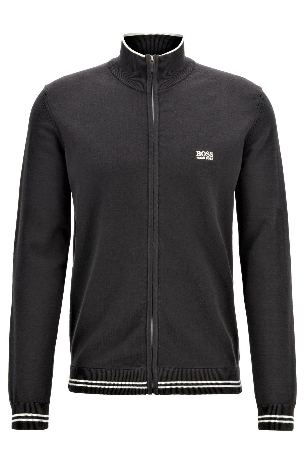 HUGO BOSS Cardigan zip profiles in contrast and details Zomex_S19 50398630