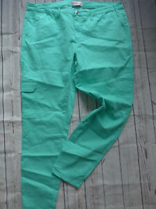 Sheego-Trousers-Cargo-Trousers-Size-50-to-52-Mint-Tone-715-New