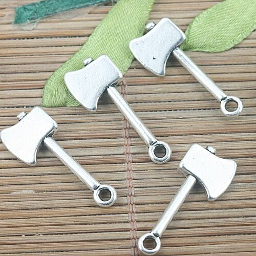 14pcs tibetan silver color 2sided axe design charms H3103