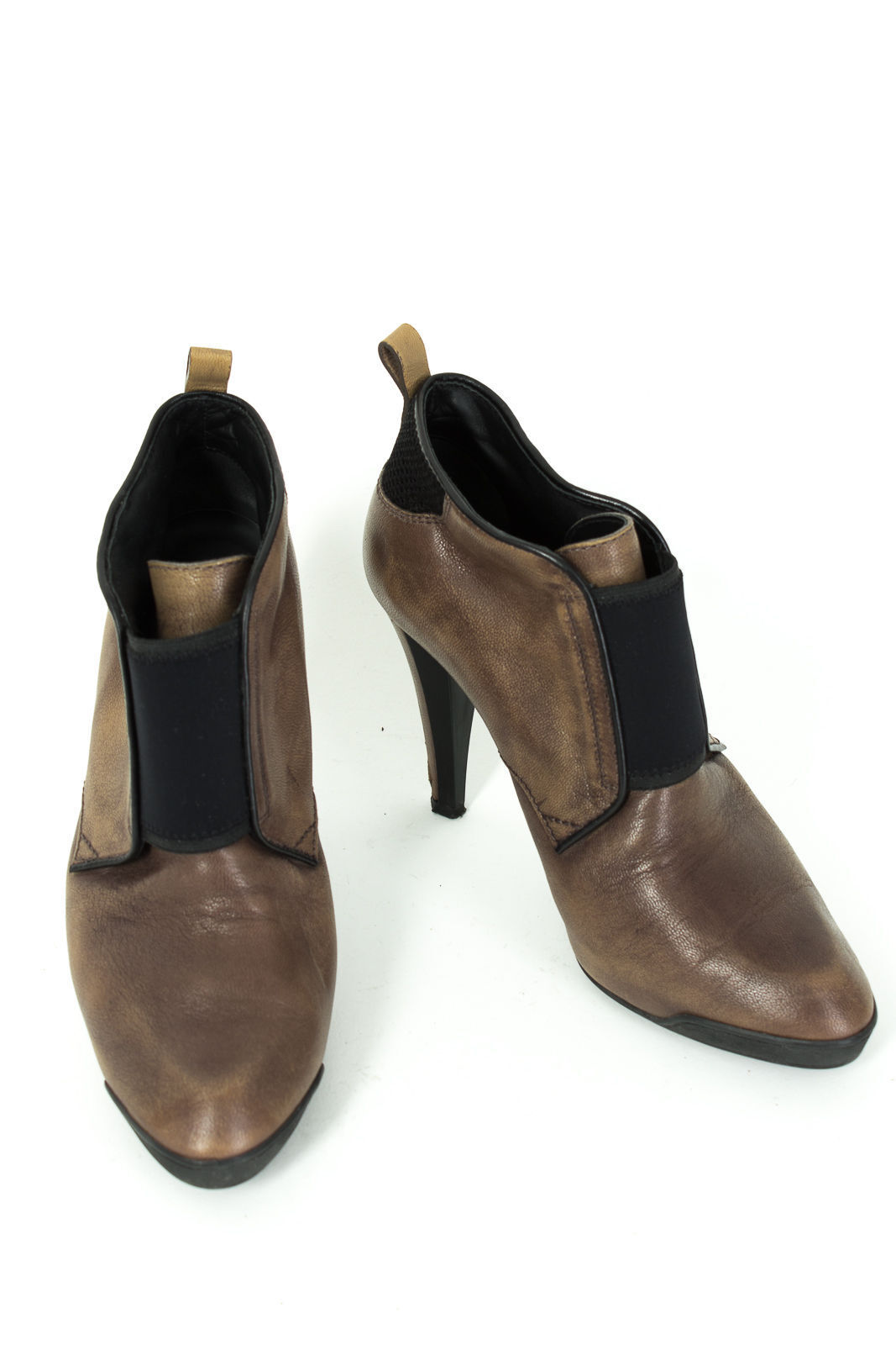 TOD'S Chaussures Taille FR 37,5 = UK 4,5 cuir véritable Bottines bottes stiletto high heels
