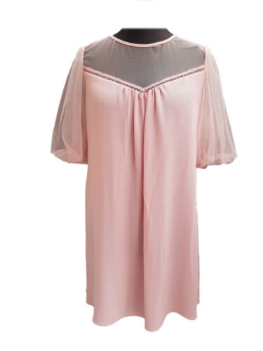 Dorothy Perkins Kaftan Dress Puffed up Tulle Manches Rose Tailles 4-6-8-10-12-14