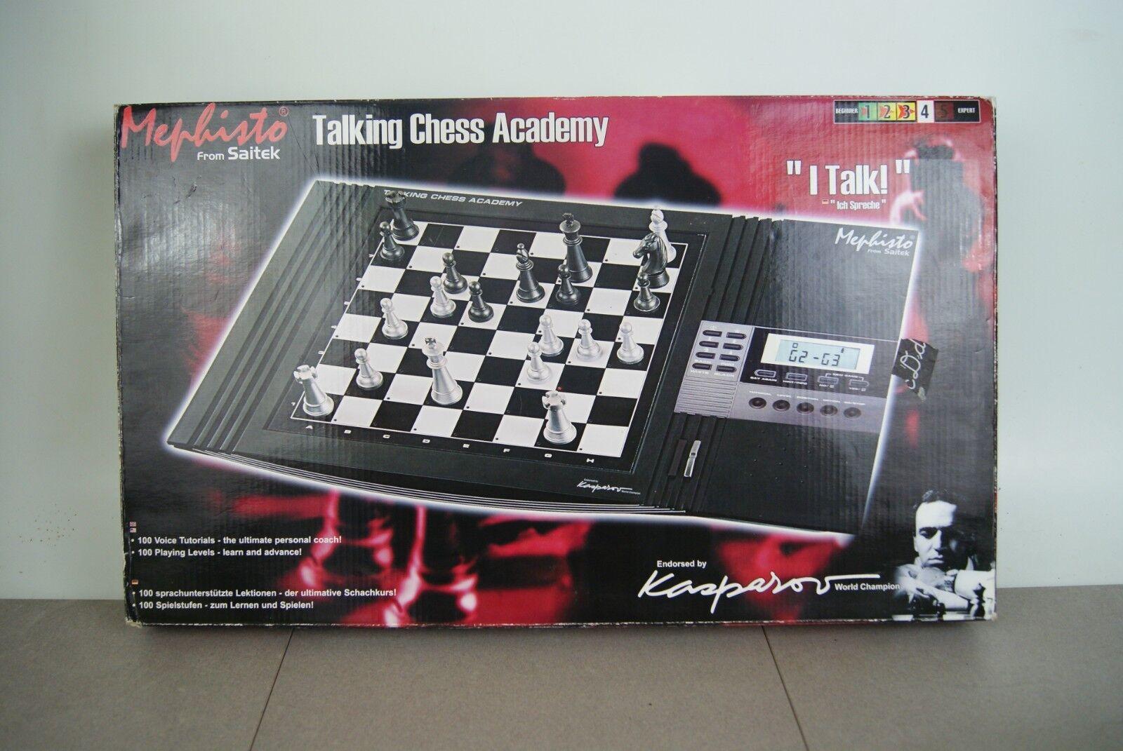 Mephisto Mephisto Mephisto Talking Chess AcademySaitek Computer Kasparov 100% Complete Working 7dcbdd