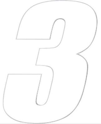 """One Industries Motorcycle Racing Number /""""9/"""" Decal Decals Stickers 7/"""" Vinyl White"""