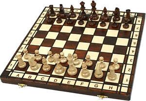 schach sehr sch nes schachspiel schachbrett 42 x 42 cm holz ebay. Black Bedroom Furniture Sets. Home Design Ideas