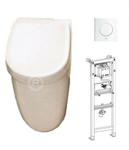 urinal mit deckel komplett set inkl vorwandelement diana mona ebay. Black Bedroom Furniture Sets. Home Design Ideas