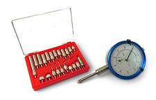 """Dial Test Indicator Resolution 0.0005"""" 1"""" Travel 22 Piece Dial Indicator Points"""