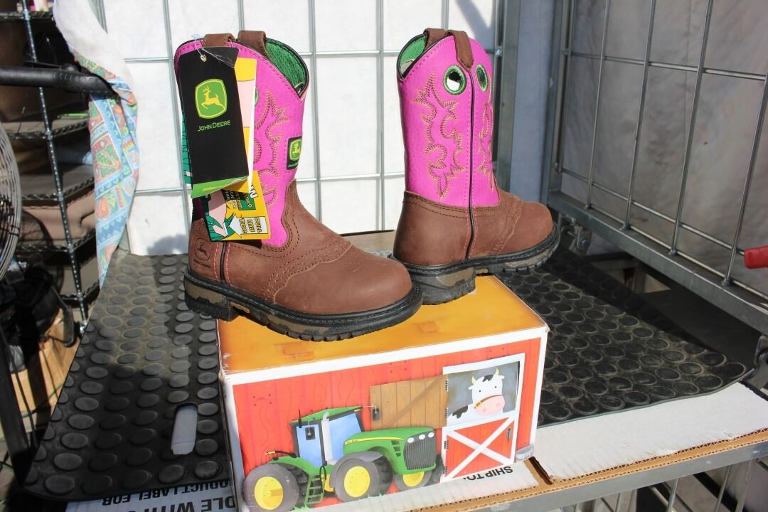 40-16 Nuovo childs 11M John Deere western Johnny Poppers fushia western Deere stivali was 90 2b7f2a