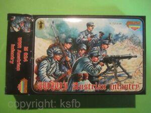 1-72-Strelets-M024-WKII-Osterreich-Infanterie-Soldaten-Mantel-Austrian-Soldiers