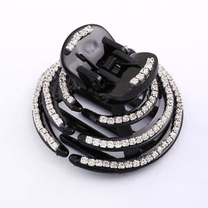 Distingué Bijoux De Cheveux épingle à Cheveux épingle à Cheveux Strass Hair Jewelry Magiques Bijoux Noir-afficher Le Titre D'origine