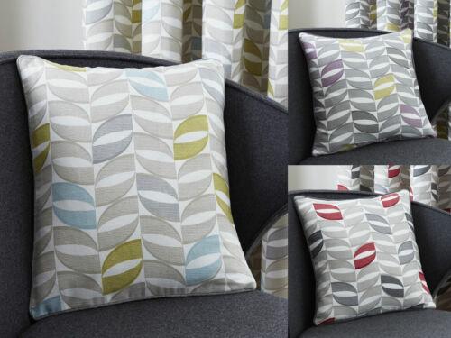 "Copeland Modern Cushion Cover Geometric Printed 17/"" x 17/"" Duck Egg Red or Purple"