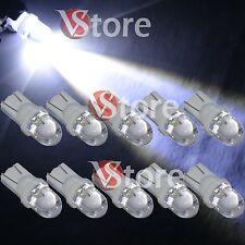 10 Lampade LED T10 BIANCO Lampadine Luci Per Targa e Posizione W5W