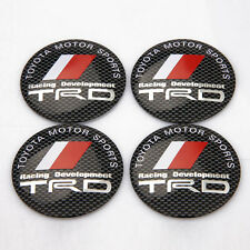 4pcs TRD Car Wheel Center Hub Cap Badge Emblem Aluminum Decal Sticker D072