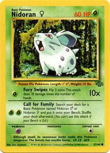 Nidoran 57//64 Jungle Standard Pokemon Card
