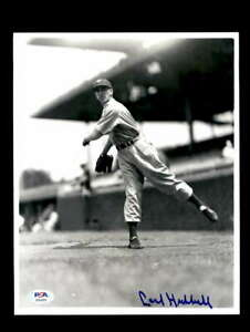 Carl-Hubbell-PSA-DNA-Coa-Hand-Signed-8x10-Photo-Autograph