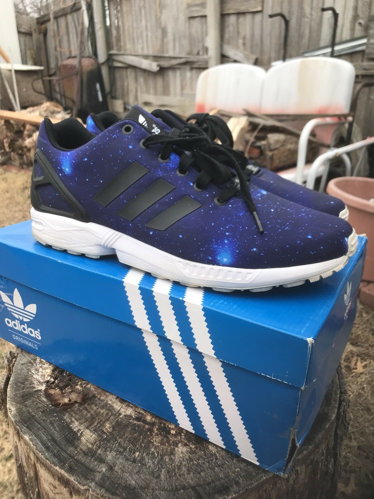 Adidas Galaxy ZX Flux Mens shoes colorful Size 10.5