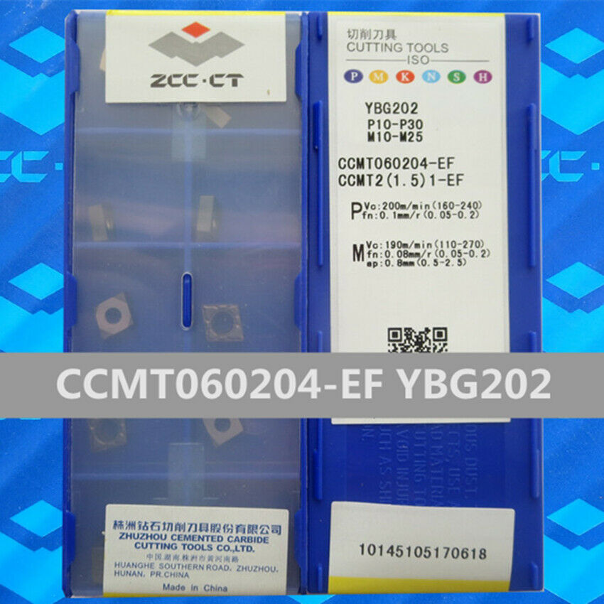 ZCC.CT 10P CCMT060204-EM YBG205 CNC Carbide Turning insert For Stainless steel