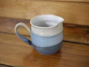 Vintage-Stoneware-Pottery-Ceramic-Handmade-Creamer-Pitcher-4-034-Tall-Small