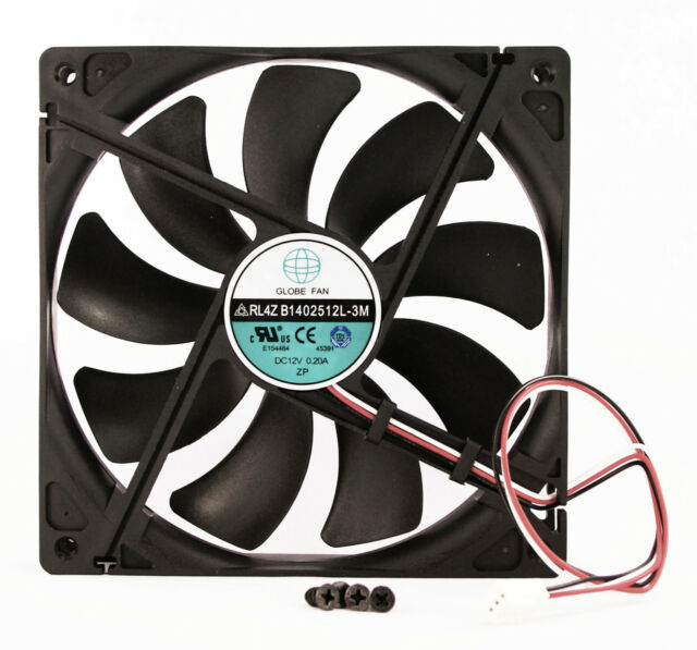 140mm 25mm New Case Fan 12V DC 74CFM CPU Computer Cooling 2wire Sleev 14025 345*