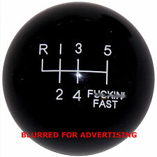 Black F-in Fast -L 6 Speed shift knob for 2016 2017 GT350 Mustang
