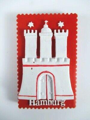 Hamburg Wappen Hammaburg Germany Poly Souvenir Magnet Reise,Neu
