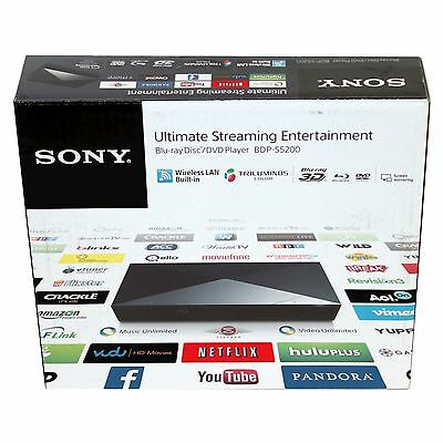 Sony BDP-S5200 3D Blu-ray/DVD Player with Built-in Wi-Fi VG In Box BDPS5200