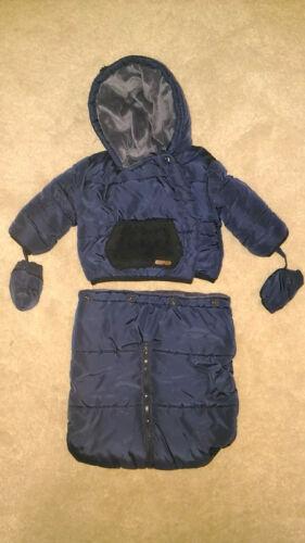 f. Zwillinge = 2 Stk. vorhanden Schneeanzug marineblau 3in1 vertbaudet 62-68