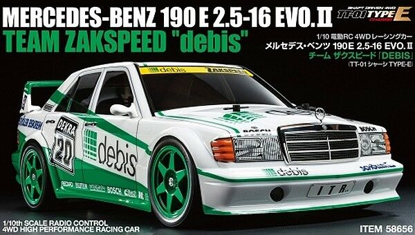 Three Battery Super Deal  Tamiya 58656 Mercedes-Benz 190E Debis TT01 RC Car Kit