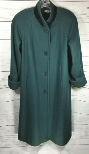 Vintage Jofeld Womens Sz M to L Dark Green Wool Ve