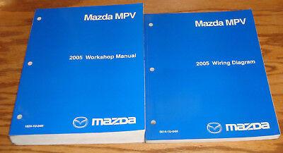 Original 2005 Mazda MPV Van Shop Service Manual + Wiring ...