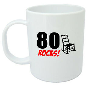 Image Is Loading 80 Rocks 80th Birthday Gift Mug Ideal Gifts