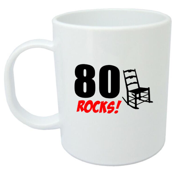 80 Rocks 80th Birthday Gift Mug Ideal Gifts For Year Old Men Or