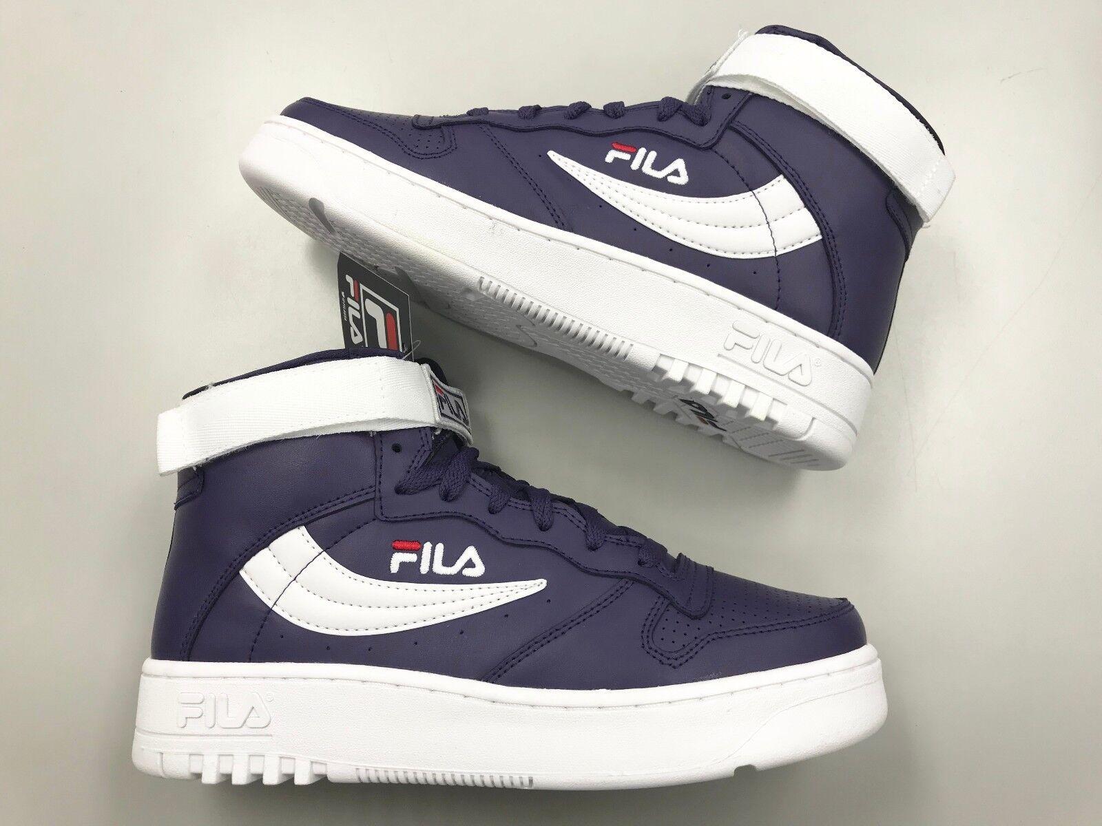 Brand New FILA FX-100 retro Purple White Red High Top Uomo shoes vtg fitness