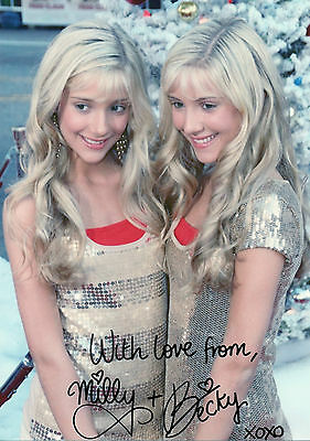 ROSSO TWINS Signed 12x8 Photo LEGALLY BLONDES Suite Life Of Jack And cody COA