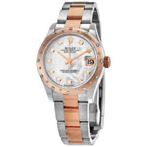 Rolex-Datejust-31-MOP-Diamond-Dial-Automatic-Ladies-Steel-and-18kt-Rose-Gold