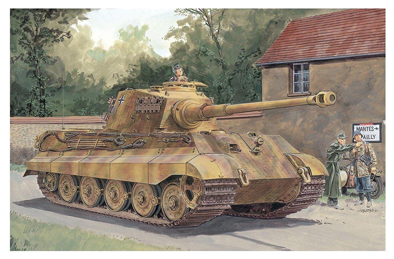 DRAGON 1 72 German Army King Tiger Henschel Plastic Model Kit DR7558