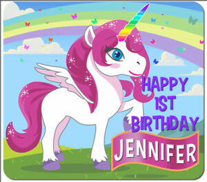Image Is Loading 30 Custom Unicorn Personalized Birthday Party Favors Treat
