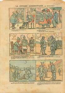 WWI-Caricature-Guerre-Poilus-Caserne-Pickelhaube-Grece-Greece-1917-ILLUSTRATION