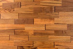 3d Holz Wandverkleidung Teak Holzwand Paneele Wandgestaltung