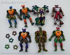 TMNT SUPERMUTANTS LOT figures + parts vtg Teenage Mutant Ninja Turtles 1995