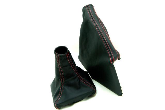 Shift Boot Manual Real Leather for 08-16 Subaru Impreza WRX STI Black